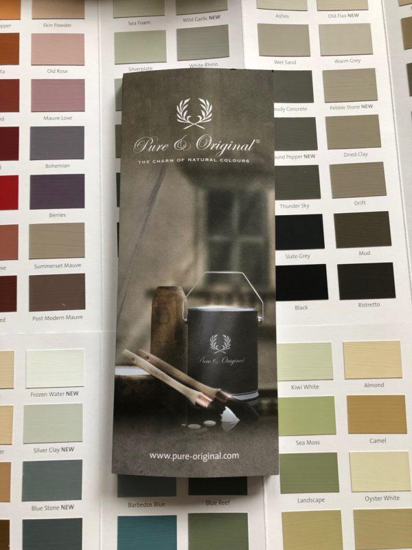 Pure & Original Farbkarte für Kalk- und Kreidefarben